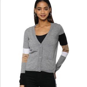 Decker Luxe Stripe ExtraFine Merino Wool Cardigan